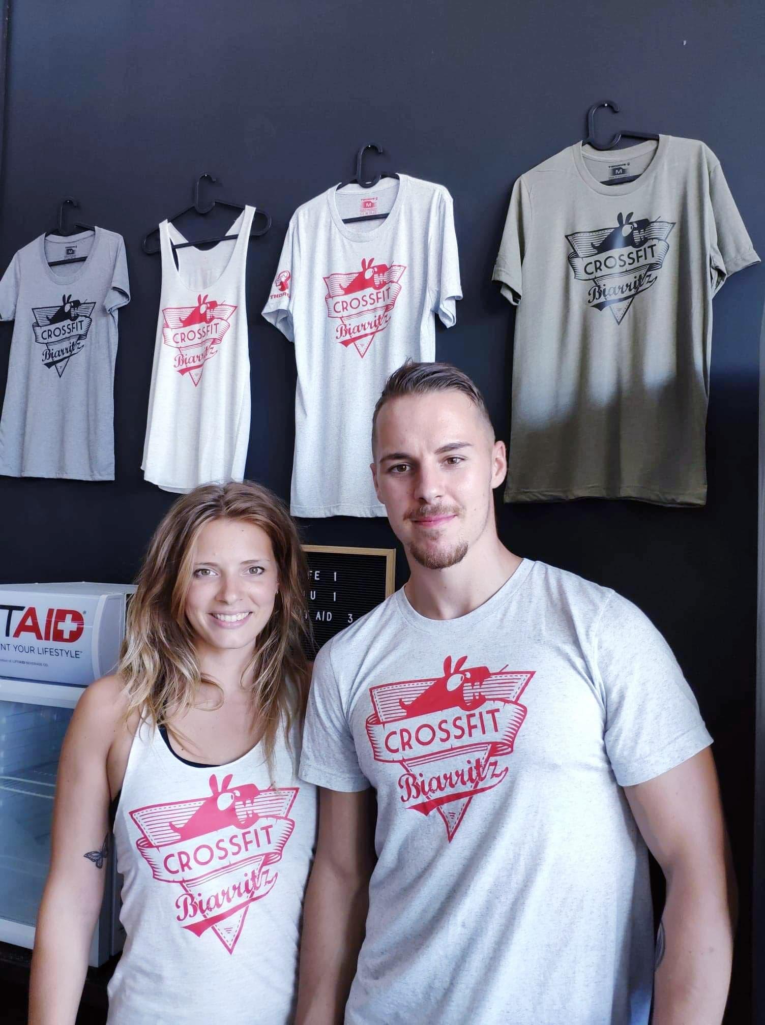Collection de tshirt Burpees CrossFit Biarritz